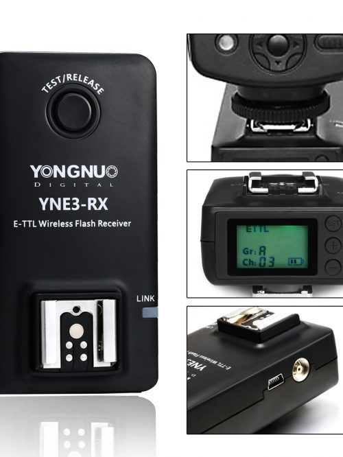 YONGNUO E-TTL YNE3-RX Wireless Remote Flash Receiver for YN-E3-RT// YN600EX-RT//ST-E3 RT// 600EX-RT